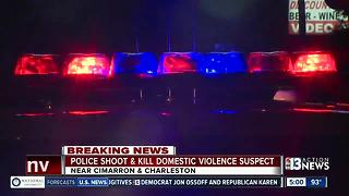 Police shoot, kill domestic violence suspect - Video
