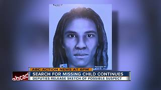 Police sketch of suspect who allegedly knocked out mom before kidnapping 2-year-old