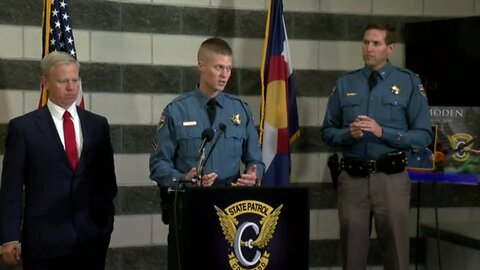 Press conference: CSP Chief Packard, DA George Brauchler announce pickup driver won't face charges in crash that killed trooper