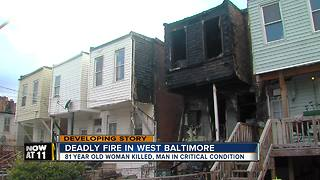 Deadly Fire in West Baltimore - Video