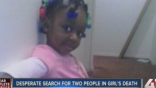 Police search for two people in girl's death