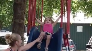 I told you I don't like slides mom! - Video