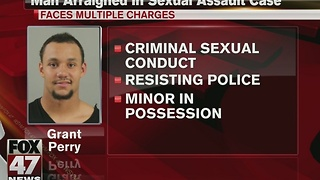 MSU player arraigned in sexual assault case - Video