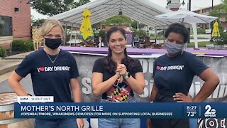"""Mother's North Grille says """"We're Open Baltimore!"""""""