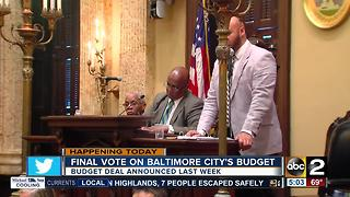 Final vote on budget for Baltimore City - Video