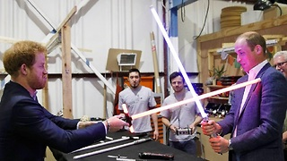 Princes William and Harry Tour The Star Wars Episode VIII Set - Video