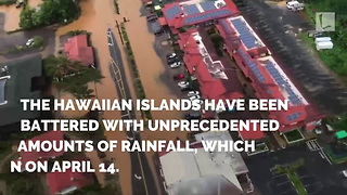 Family Stranded on Island Rescued by Celeb in Boat After Record-Setting Rainfall Causes Flood - Video