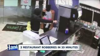 Three Cleveland restaurants robbed in 30 minutes - Video