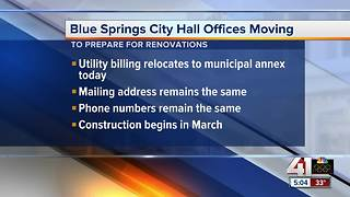 Blue Springs temporarily relocating services ahead of city hall renovation - Video
