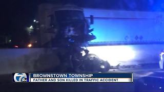 Father and son killed in semi crash on I-75 - Video