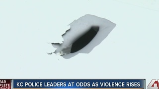 KC police leaders disagree as crime spikes - Video