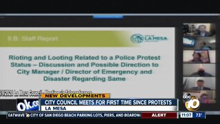 La Mesa city council meets for first time since protests