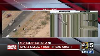 DPS: Semi vs. pick-up truck crash leaves 3 people dead - Video