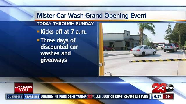 Mister Car Wash Grand Opening Event