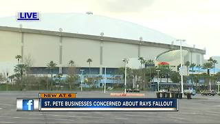 St. Pete businesses crushed by Rays Ybor City announcement - Video