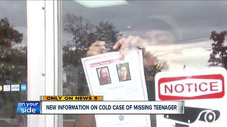 New information on cold case of missing teenager