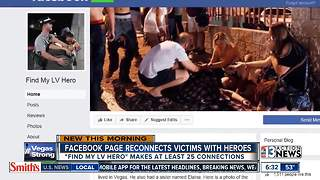 Facebook pages help victims connect with shooting heroes - Video