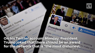Trump Proposed New Award for Fake News Media - Video