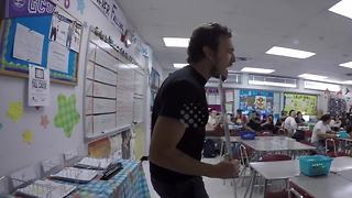 Man springs Valentine's Day surprise on teacher wife during class - Video