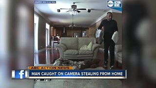 Man caught on camera stealing from home