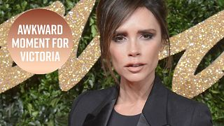 Awkward: Victoria Beckham mixed up these two celebs - Video