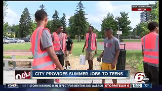 City provides summer jobs to teens - Video