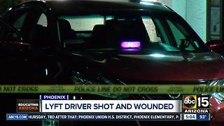 Lyft driver shot and wounded in Phoenix - Video