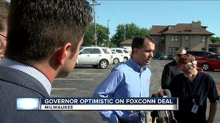 Governor Walker continues to tout Foxconn's potential impact on Wisconsin's economy - Video