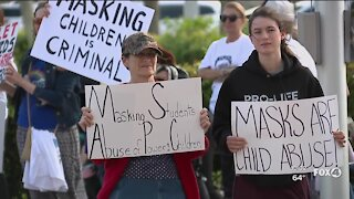 Anti-mask protestors kicked out of Collier County School Board Meeting