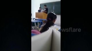 Back to school with a slap in the face - from teacher - Video