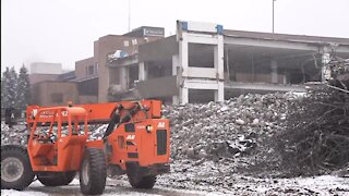 Lansing Community College starts demolition on Gannon Parking Ramp
