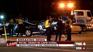 Fatal crash in Cape Coral