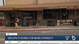 Groups pushing for more diversity