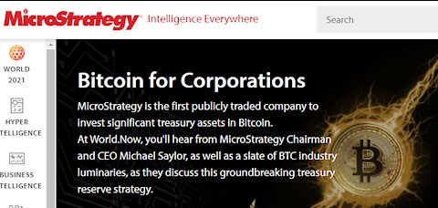 Microstrategy: Bringing Bitcoin To Corporations