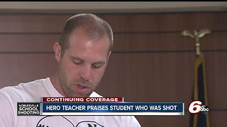 Teacher who stopped school shooting thanks community
