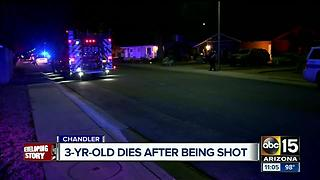 Girl dies after being shot in Chandler