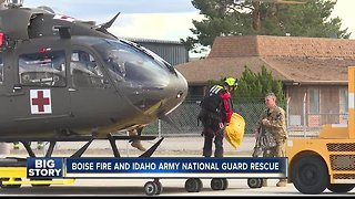 Boise Fire and Idaho Army National Guard rescue people from home