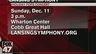 Lansing Symphony Orchestra holds annual Holiday Pops Concert - Video