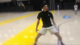 Lonzo Ball TWERKS After Windmill Dunking in a Polo Shirt