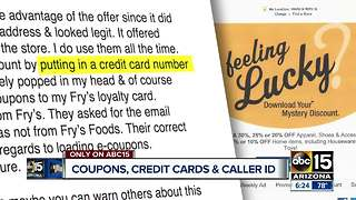 Consumer Concerns: Coupons, credit cards and caller ID scams - Video