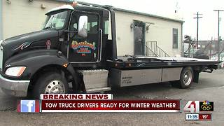 Tow truck drivers ready for winter weather - Video