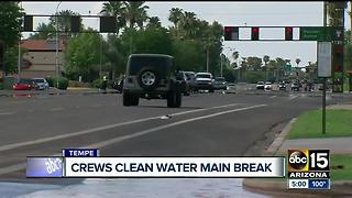 Clean-up underway after Tempe water main break - Video