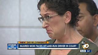 Injured mom faces hit-and-run driver
