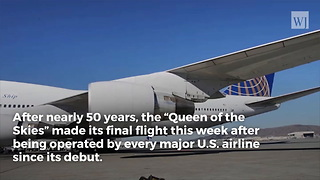 End of an Era: The Last Commercial Boeing 747 Flight Is History - Video