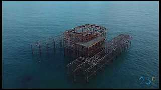 Drone Captures Attractions Around the Beautiful Brighton Pier