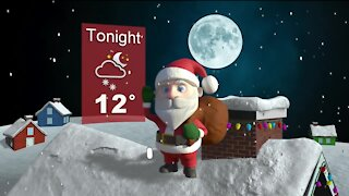 Chilly Christmas Eve with light snow showers