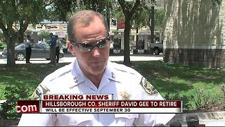 Hillsborough County Sheriff David Gee announces retirement - Video