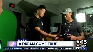 ABC15 surprises young author with Phoenix Suns idol Devin Booker - Video