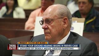 Curtis Reeves back in court for 'stand your ground' hearing in Florida theater shooting - Video