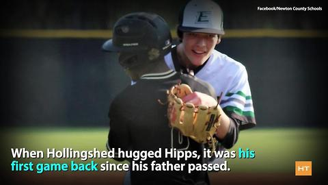 When a high school pitcher's dad dies cheering him on, opposing player does this
